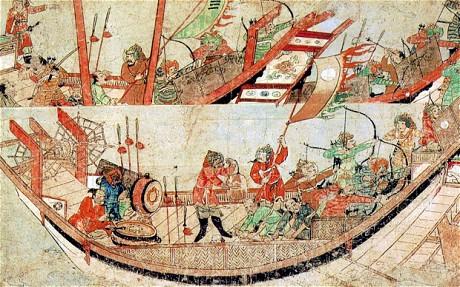 navires mongols