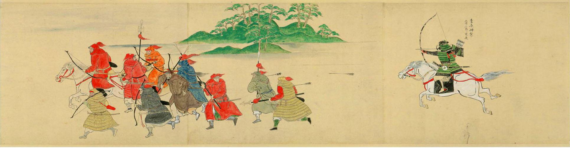 Bushi chassant mongols