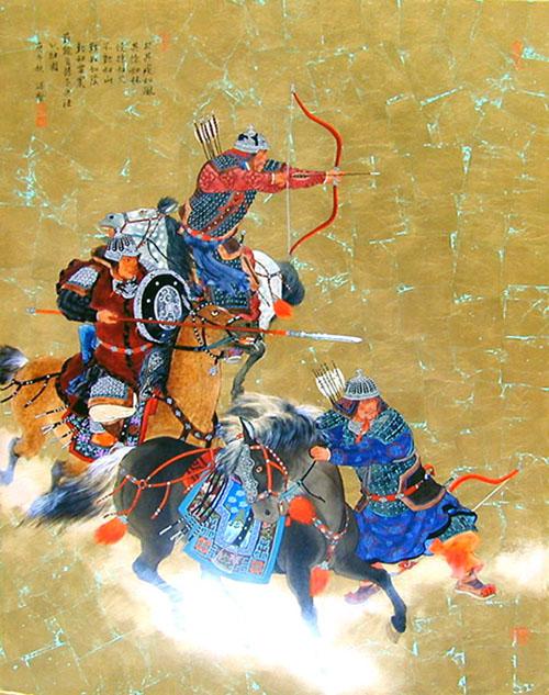 cavaliers archers mongols