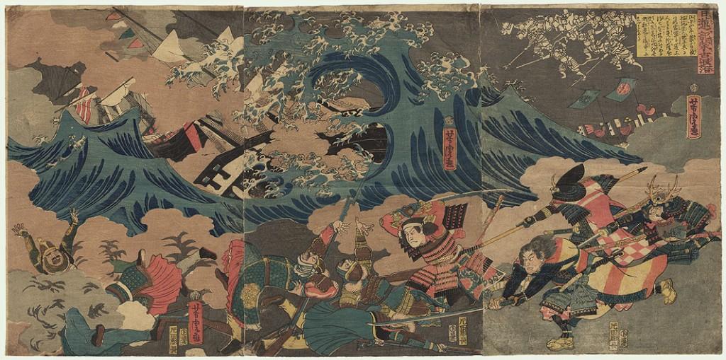 tempête bataille japonais mongols